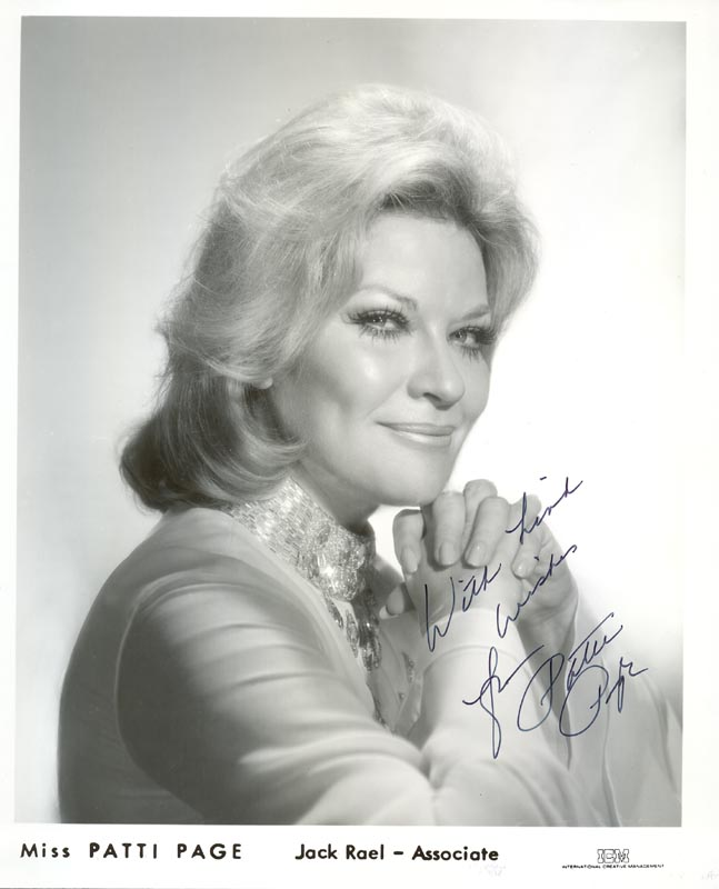 Image 1 for Patti Page - Autographed Signed Photograph - HFSID 34074
