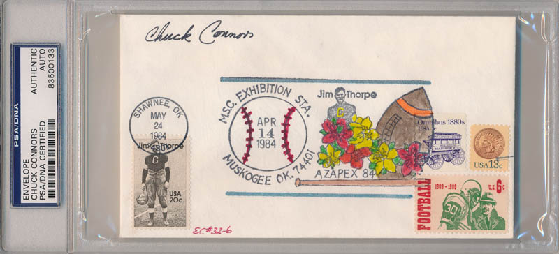 Image 1 for Chuck Connors - Commemorative Envelope Signed - HFSID 341073