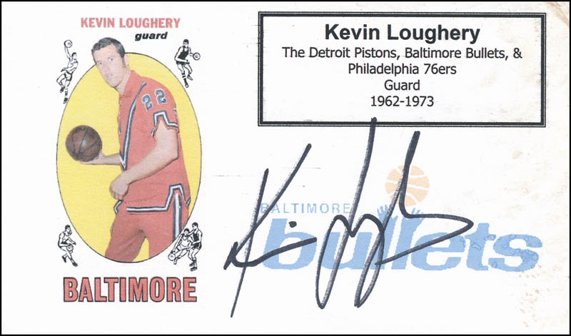Image 1 for Kevin Loughery - Printed Card Signed In Ink - HFSID 341123