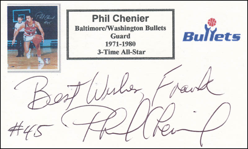Image 1 for Phil Chenier - Autograph Note Signed - HFSID 341136