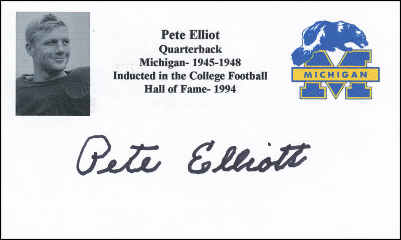 Image 1 for Pete Elliott - Printed Card Signed In Ink - HFSID 341160