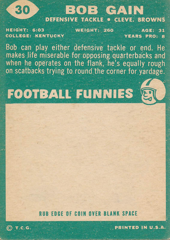 Image 3 for Bob Gain - Trading/Sports Card Signed - HFSID 341163