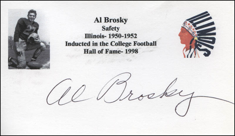 Image 1 for Al Brosky - Printed Card Signed In Ink - HFSID 341218