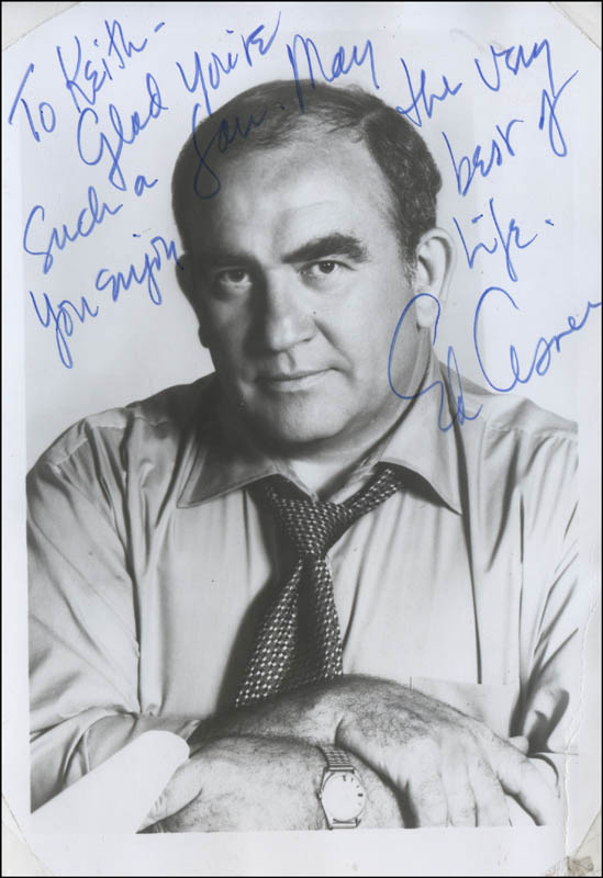 Image 1 for Ed Asner - Autograph Note On Photograph Signed - HFSID 341304
