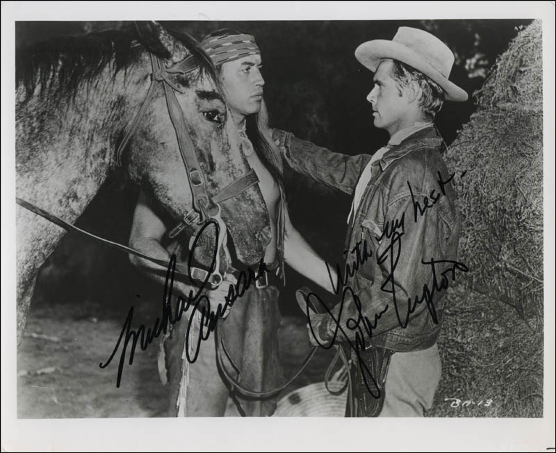 Image 1 for Broken Arrow TV Cast - Autographed Signed Photograph co-signed by: Michael Ansara, John Lupton - HFSID 341311