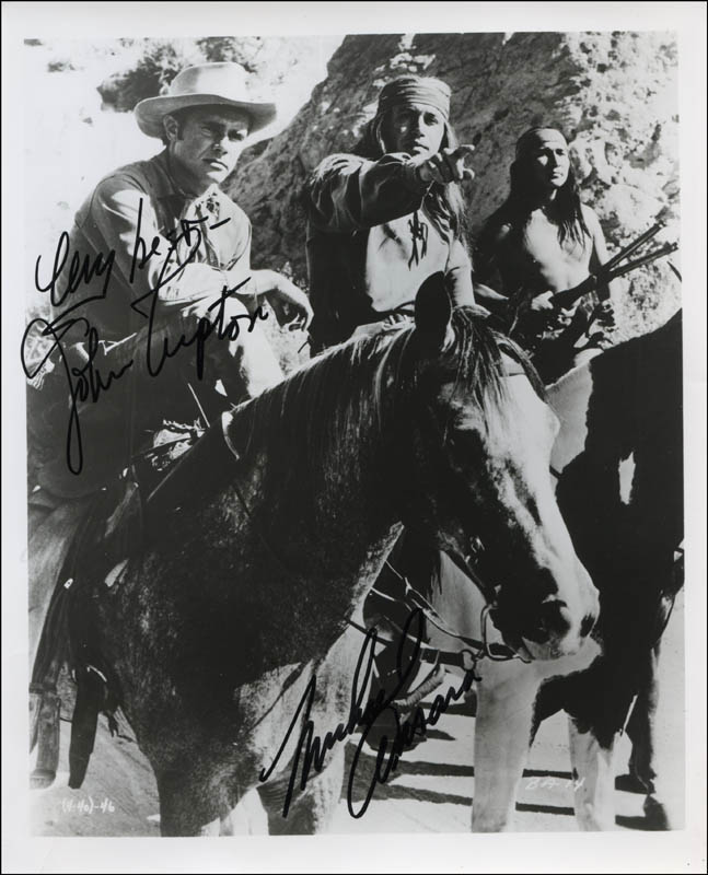 Image 1 for Broken Arrow TV Cast - Autographed Signed Photograph co-signed by: Michael Ansara, John Lupton - HFSID 341313