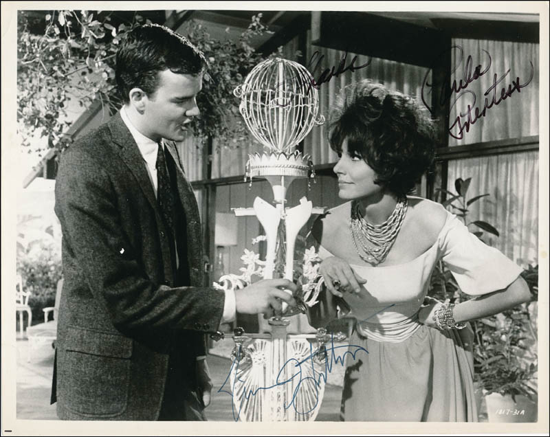 Image 1 for Looking For Love Movie Cast - Autographed Signed Photograph co-signed by: Jim Hutton, Paula Prentiss - HFSID 341453