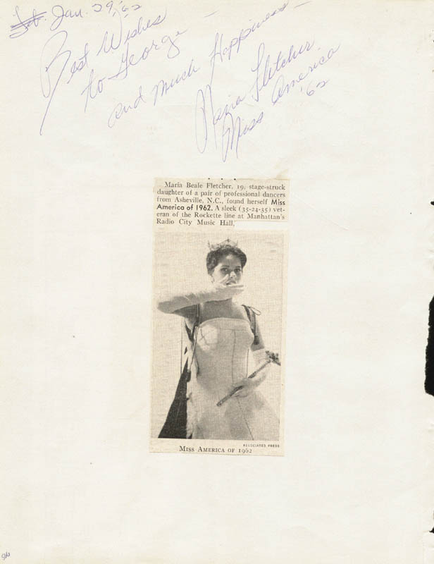 Image 1 for Jack Lalanne - Autograph Note Signed 01/29/1962 co-signed by: Maria Fletcher - HFSID 34153