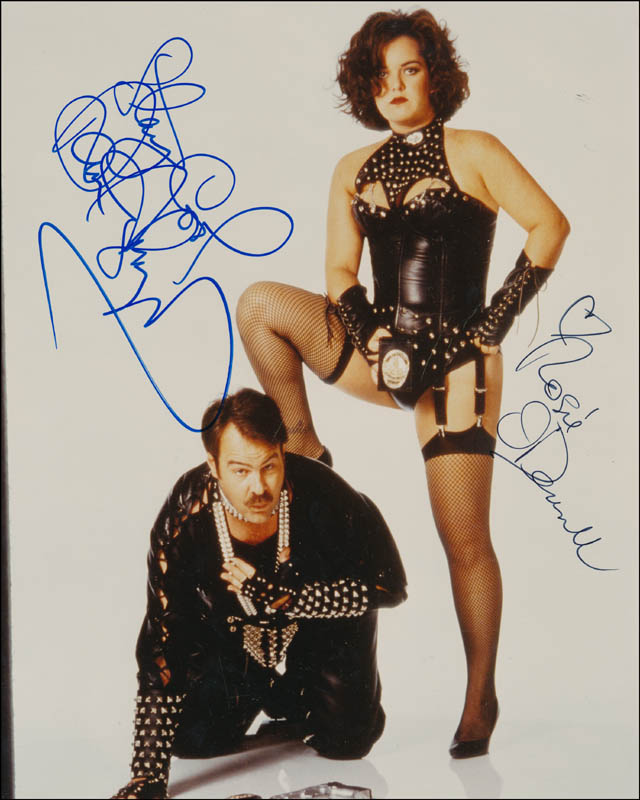 Image 1 for Exit To Eden Movie Cast - Autographed Signed Photograph co-signed by: Dan Aykroyd, Rosie O'Donnell - HFSID 341536