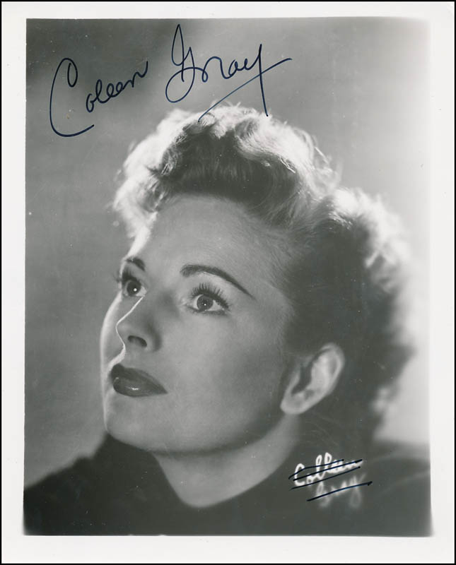 Image 1 for Coleen Gray - Autographed Signed Photograph - HFSID 341568