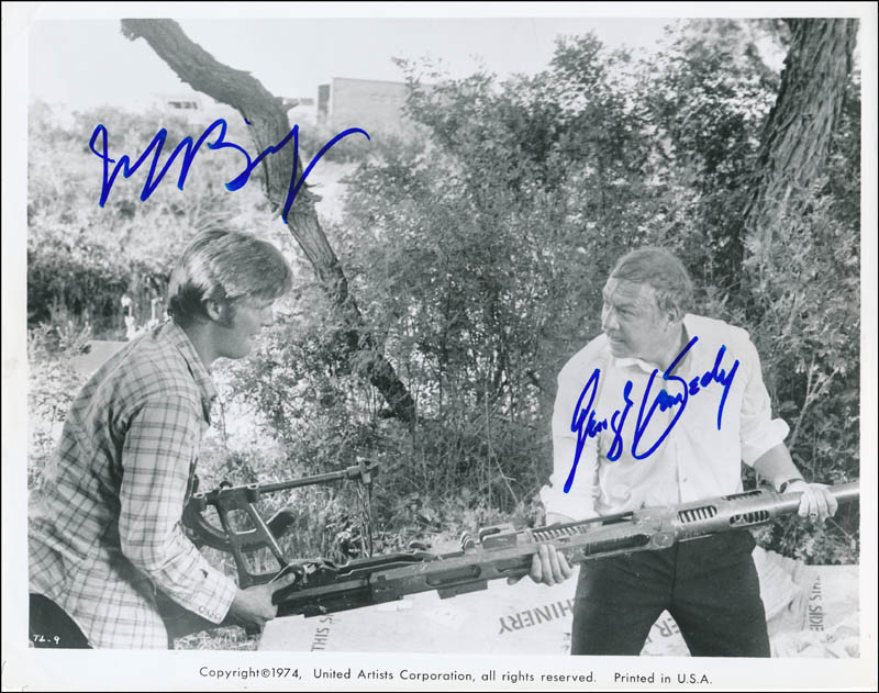 Image 1 for Thunderbolt And Lightfoot Movie Cast - Printed Photograph Signed In Ink co-signed by: George Kennedy, Jeff Bridges - HFSID 341644