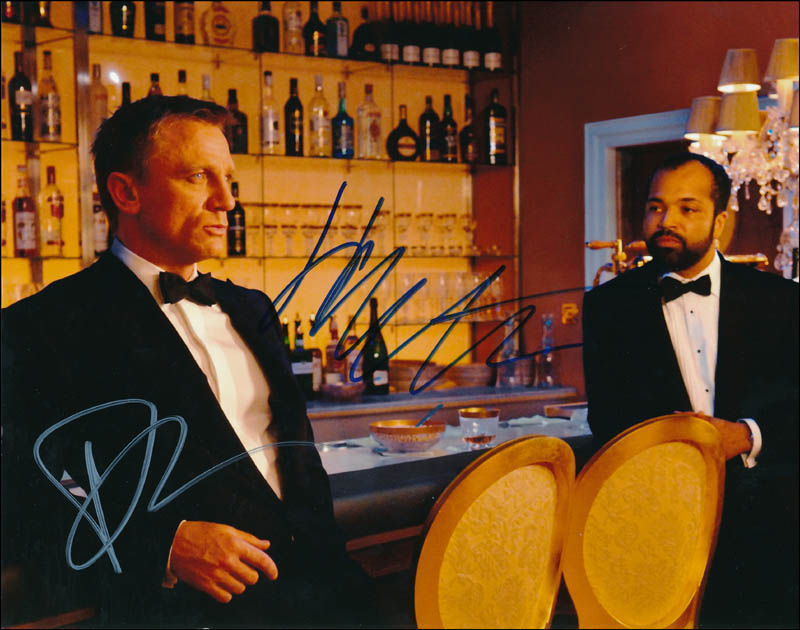 Image 1 for Casino Royale Movie Cast - Autographed Signed Photograph co-signed by: Daniel Craig, Jeffrey Wright - HFSID 341646