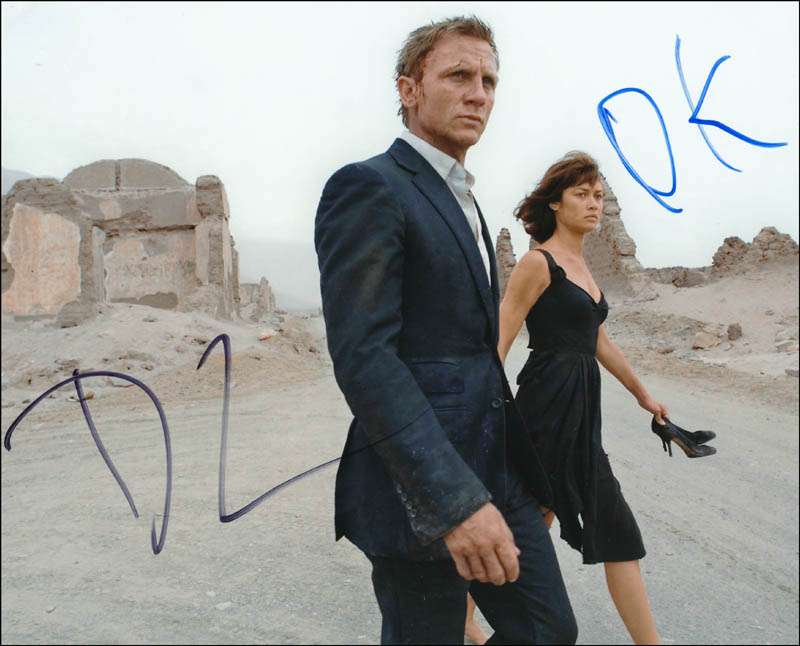 Image 1 for Quantum Of Solace Movie Cast - Autographed Signed Photograph co-signed by: Daniel Craig, Olga Kurylenko - HFSID 341647