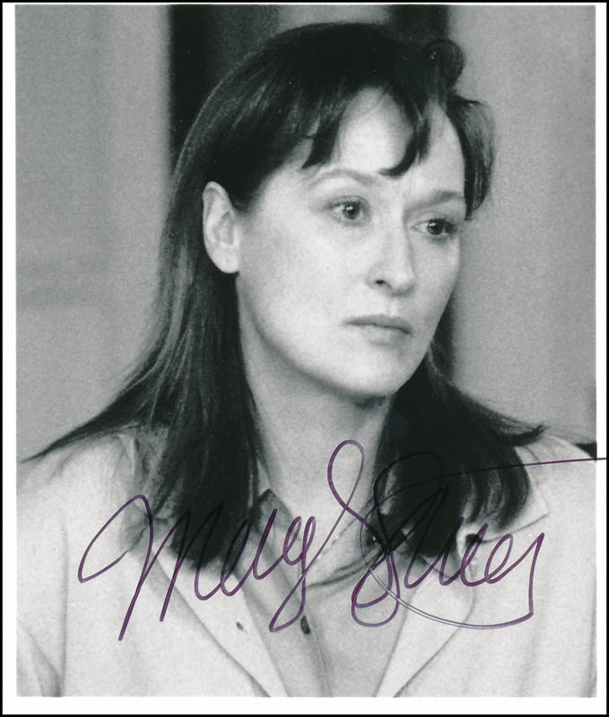 Image 1 for Meryl Streep - Autographed Signed Photograph - HFSID 341678