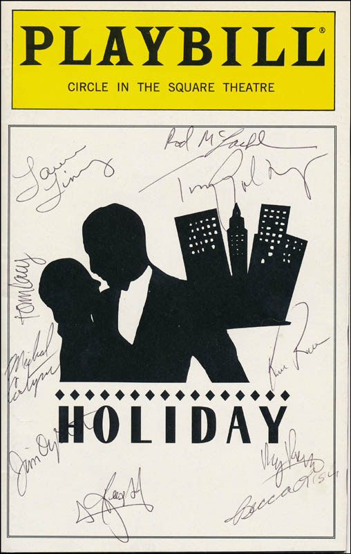 Image 1 for Holiday Play Cast - Show Bill Cover Signed with co-signers - HFSID 341725