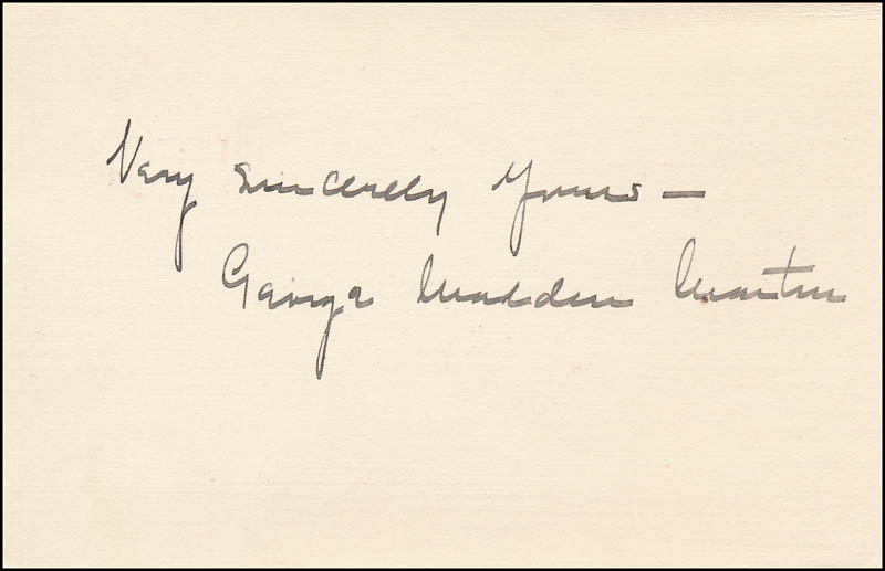 Image 1 for George Madden Martin - Autograph Sentiment Signed - HFSID 341929