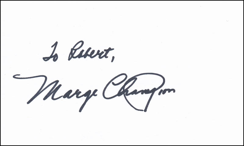 Image 1 for Marge Champion - Inscribed Signature - HFSID 342019