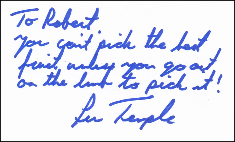Image 1 for Lew Temple - Autograph Note Signed - HFSID 342021
