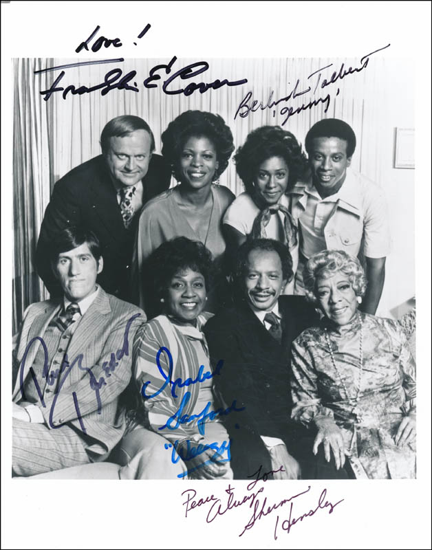 Image 1 for The Jeffersons TV Cast - Autographed Signed Photograph with co-signers - HFSID 342074