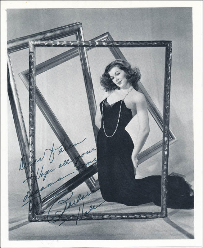 Image 1 for Barbara Hale - Autographed Inscribed Photograph - HFSID 342101