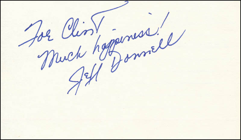 Image 1 for Jeff Donnell - Autograph Note Signed - HFSID 342147