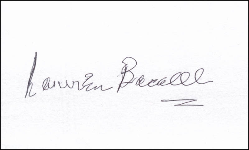 Image 1 for Lauren Bacall - Autograph - HFSID 342268
