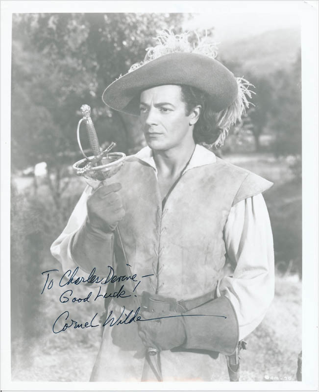 Image 1 for Cornel Wilde - Autographed Inscribed Photograph - HFSID 342724