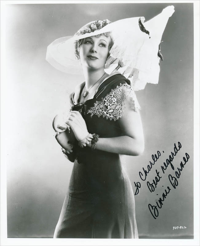 Image 1 for Binnie Barnes - Autographed Inscribed Photograph - HFSID 342754