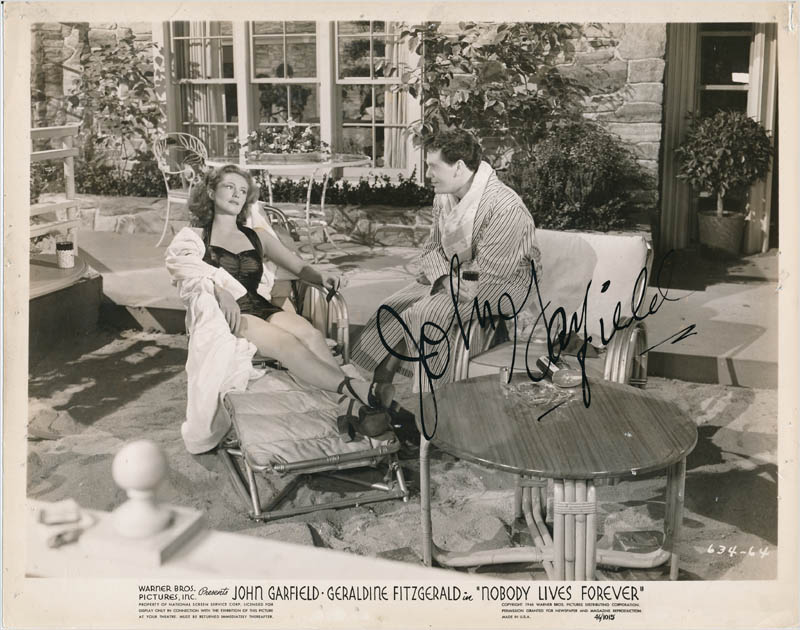 Image 1 for John Garfield - Printed Photograph Signed In Ink - HFSID 342780
