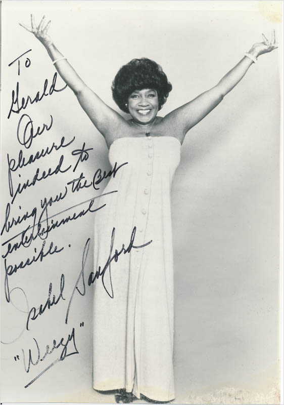 Image 1 for Isabel 'Weezy' Sanford - Autographed Inscribed Photograph - HFSID 342789