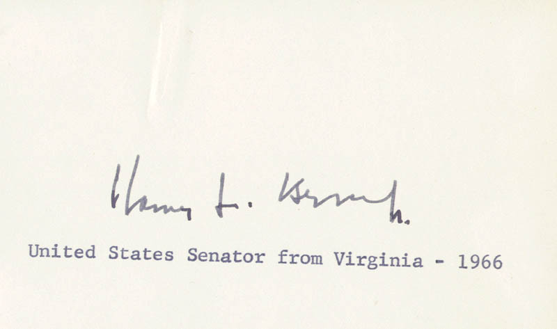 Image 1 for Harry F. Byrd Jr. - Autograph Circa 1966 - HFSID 34297