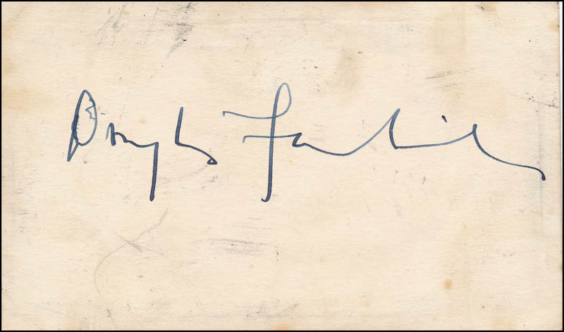 Image 1 for Douglas Fairbanks Jr. - Autograph co-signed by: Gloria Swanson - HFSID 342997