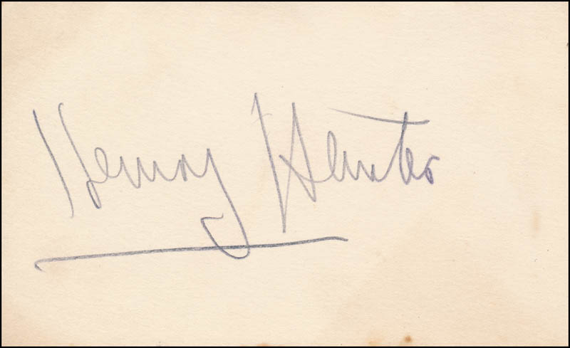 Image 1 for Henry Hunter - Autograph - HFSID 343038