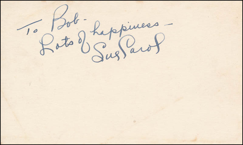 Image 1 for Sue Carol Ladd - Autograph Note Signed - HFSID 343057