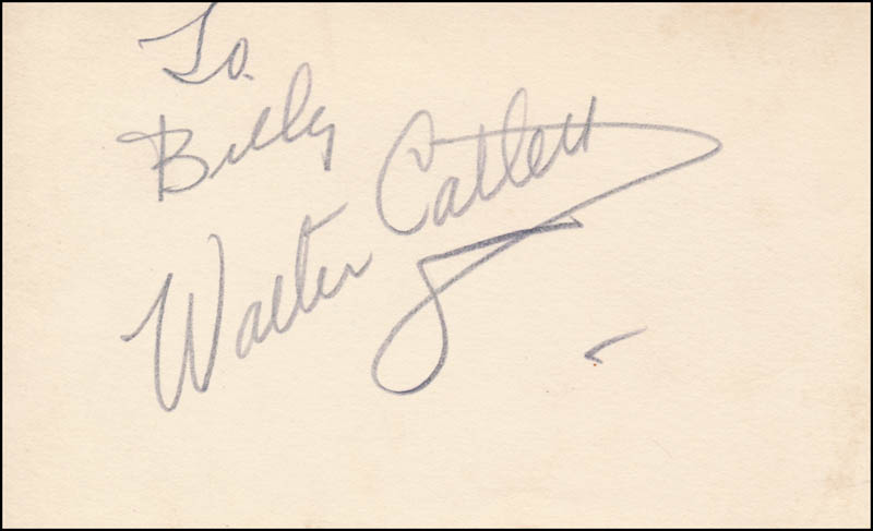Image 1 for Walter Catlett - Inscribed Signature - HFSID 343061