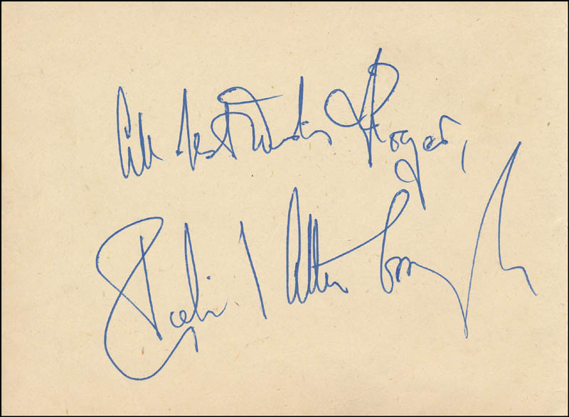 Image 1 for Sir Richard Attenborough - Autograph Note Signed co-signed by: Gracie Fields - HFSID 343215
