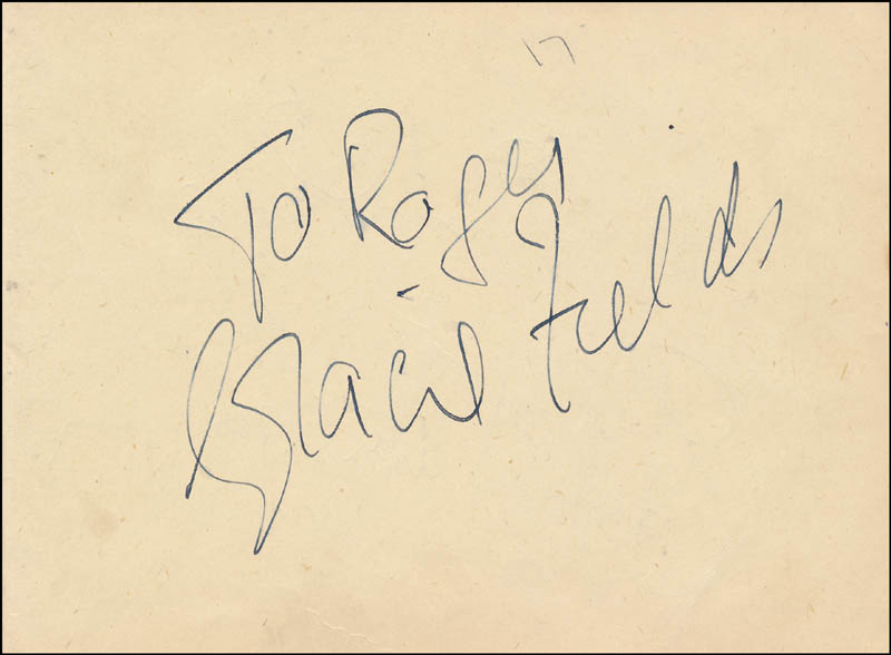 Image 3 for Sir Richard Attenborough - Autograph Note Signed co-signed by: Gracie Fields - HFSID 343215