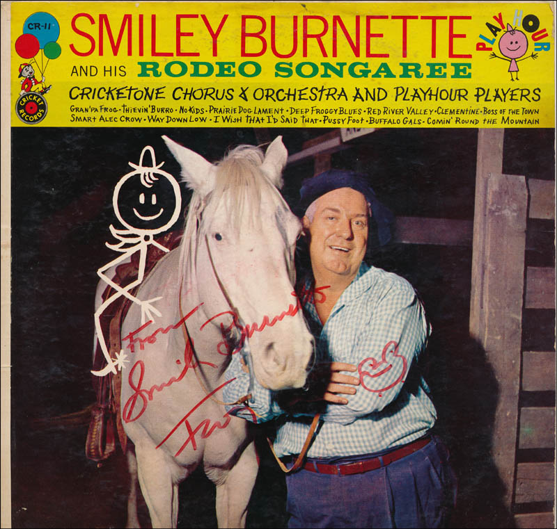 Image 1 for Smiley (Lester) Burnette - Record Album Cover Signed - HFSID 343231