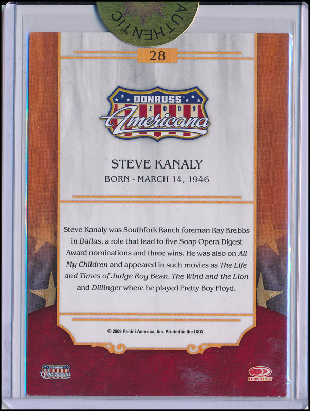 Image 3 for Steve Kanaly - Trading/Sports Card Signed - HFSID 343316