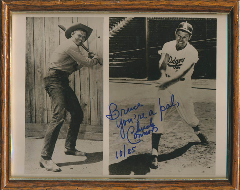 Image 1 for Chuck Connors - Autographed Inscribed Photograph 10/85 - HFSID 343321