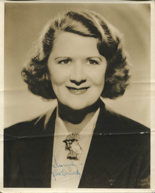 Image 1 for Ruth Donnelly - Autographed Signed Photograph - HFSID 343422