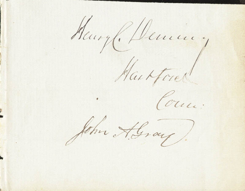 Image 1 for Henry Champion Deming - Autograph co-signed by: John A. Gray - HFSID 34361