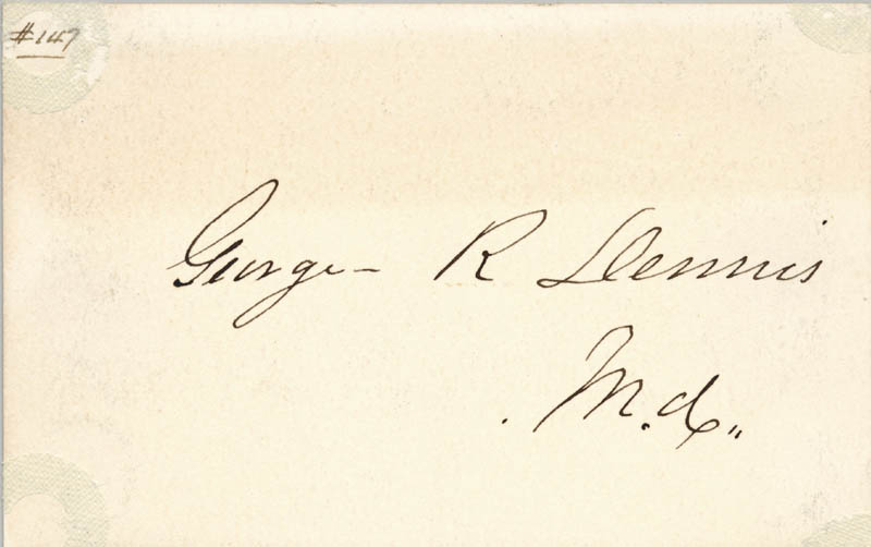 Image 1 for George Dennis - Autograph - HFSID 34363