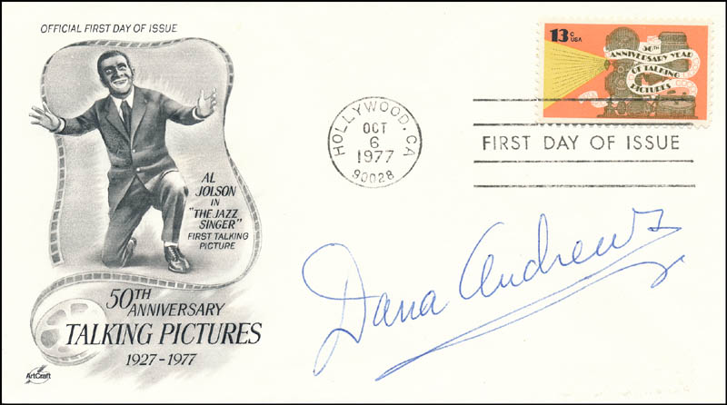 Image 1 for Dana Andrews - First Day Cover Signed - HFSID 343652