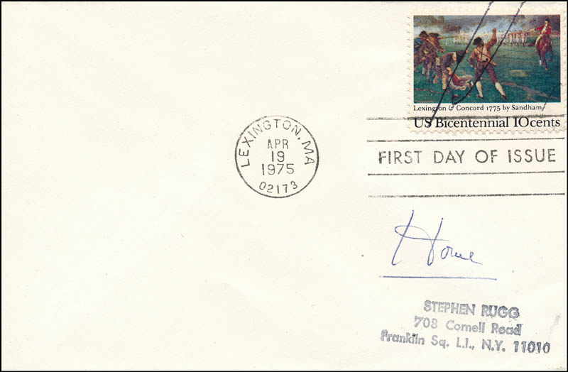 Image 1 for Geoffrey (Baron Howe Of Aberavon) Howe - First Day Cover Signed - HFSID 343704