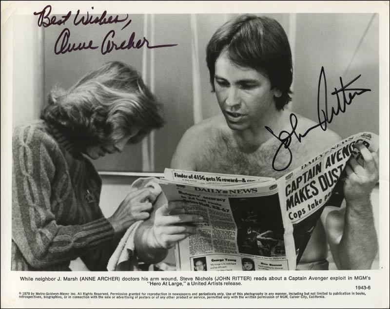 Image 1 for Hero At Large Movie Cast - Printed Photograph Signed In Ink co-signed by: John Ritter, Anne Archer - HFSID 343721