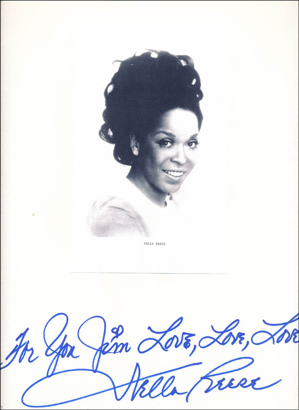 Image 1 for Della Reese - Autograph Note Signed - HFSID 343722