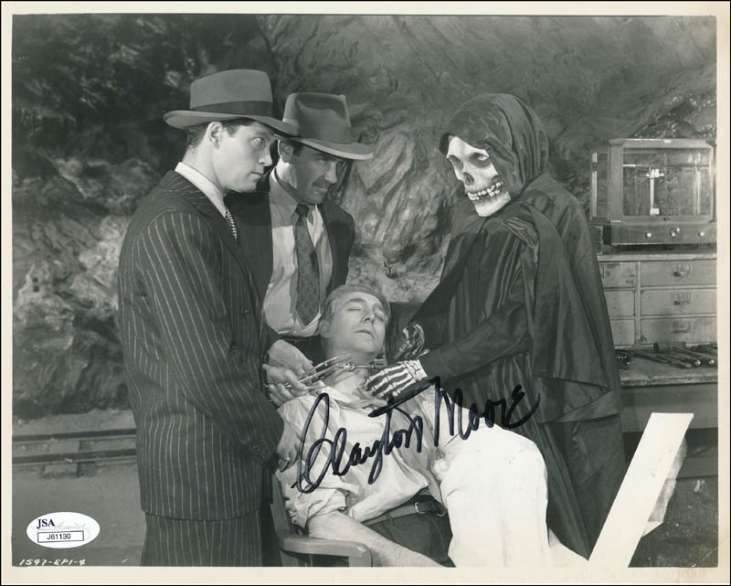 Image 1 for Clayton 'The Lone Ranger' Moore - Autographed Signed Photograph - HFSID 343761