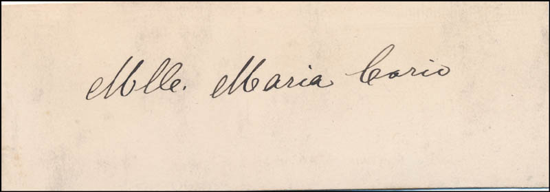 Image 1 for Ann Maria Corio - Autograph - HFSID 343810