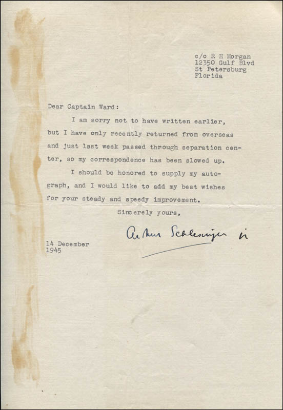 Image 1 for Arthur M. Schlesinger Jr. - Typed Letter Signed 12/14/1945 - HFSID 343946